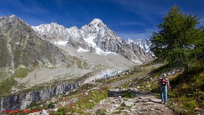 Walk to the Argentiere Glacier