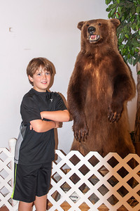 Connor agreed to pose by this Grizzly Bear.