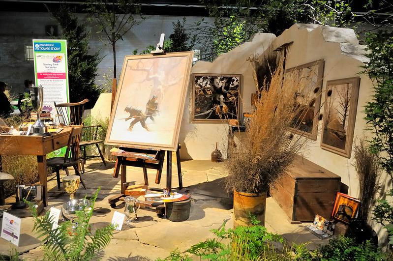 Wyeth art studio diorama