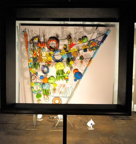 3D floral arrangement with frame