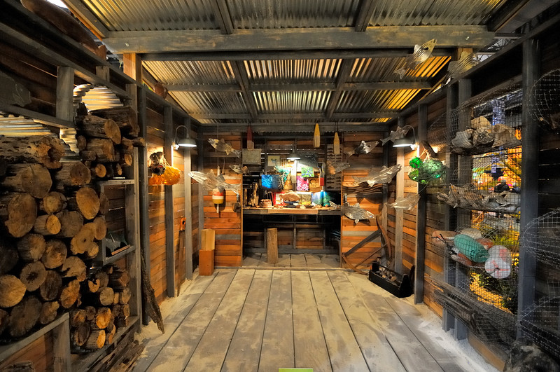 Subaru shed with repurposed objects