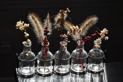 #1575  Dried flower arrangements