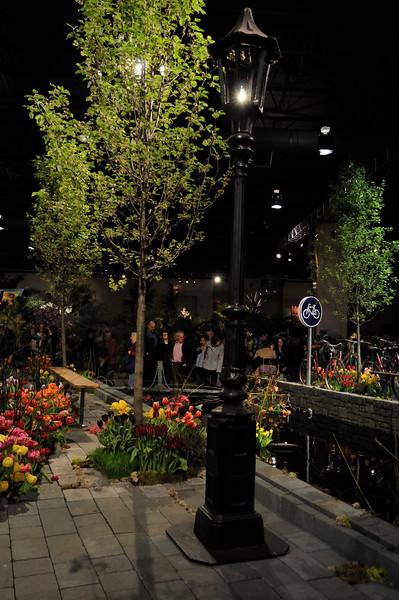 Amsterdam canal with tulips - 2010 Philadelphia Flower Show