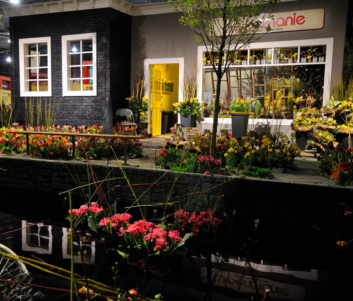 Amsterdam canal with tulips - 2010 Philadelphia Flower Show