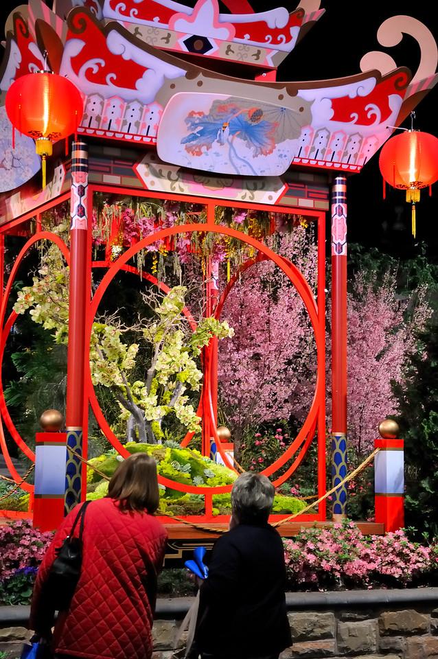 Japanese pagoda - 2010 Philadelphia Flower Show