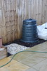 Retrieved Compost Bin and gap where the mini greenhouse was previously located.<br /> 24 January 2015
