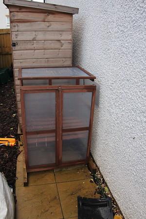 The damaged mini greenhouse once retrieved.<br /> 24 January 2015