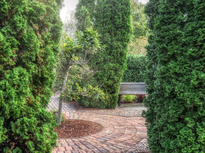 Private space in the arboretum