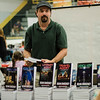 Sean Sweeney signs copies of his books during the Plastic City Comic Con held at the Wallace Civic Center in Fitchburg on Saturday, July 29, 2017. SENTINEL & ENTERPRISE / Ashley Green