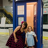 Cindy Collins poses with granddaughter Charlie Rose Bataitis, 5, in front of the TARDIS during the Plastic City Comic Con held at the Wallace Civic Center in Fitchburg on Saturday, July 29, 2017. SENTINEL & ENTERPRISE / Ashley Green
