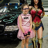 Riley Baker, 10, poses with Wonder Woman Kuno Yuro during the Plastic City Comic Con held at the Wallace Civic Center in Fitchburg on Saturday, July 29, 2017. SENTINEL & ENTERPRISE / Ashley Green
