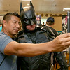 Angel Star from New York takes a picture with Matches Malone of Boston dressed as Batman at the Plastic City Comic Con on Saturday in Leominster. SENTINEL & ENTERPRISE/JOHN LOVE