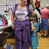 Many got into the fun of dressing up for the Plastic City Comic Con on Saturday in Leominster at the Veterans Memorial Center on West Street. Cindy Stone, from Shirley, with her daughter Jessie, 4 acting a little shy, where dressed as Shimmer and Shine from Nick Jr. SENTINEL & ENTERPRISE/JOHN LOVE