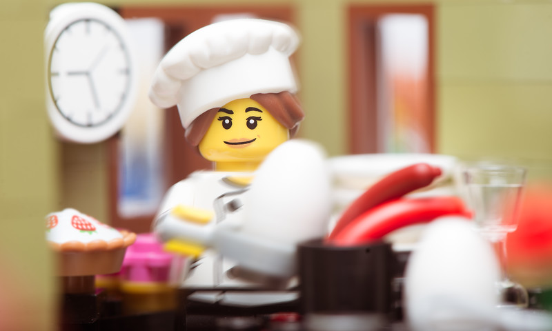 Chef Dix-Sept making an Easter Omelette