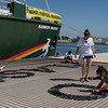"08/06/2017. Valencia, Comunidad Valenciana, España. <br /> On World Oceans Day Greenpeace launches a new campaign aiming for a plastic-free Mediterranean. The Rainbow Warrior starts today a tour in Valencia, in the Spanish coast and will continue into Italy, Croatia and Greece. A final leg will take the ship into the Bulgarian coast of the Black Sea, a basin also impacted by plastic pollution.<br /> During the ""Less Plastic, More Mediterranean"" ship tour, the Rainbow Warrior will stop in several ports in each country and the team onboard will be meeting with politicians, holding open doors events for the public, and carrying out simple scientific experiments to expose plastic pollution in the Mediterranean Sea. In addition, while at sea the ship will be conducting scientific research in collaboration with scientific institutions in each country.  <br /> ©Greenpeace/Pedro Armestre<br /> <br /> Coincidiendo con el día de los Océanos, Greenpeace celebraró una rueda de prensa a bordo de su barco insignia, el Rainbow Warrior, para presentar el informe Un Mediterráneo lleno de plástico. Estudio sobre la contaminación por plásticos, impactos y soluciones, elaborado por la unidad científica de Greenpeace. Además, de los expertos de la organización, también estuvieron presentes un científico independiente y de un pescador artesanal de Dénia, que expondrá cómo se enfrentan cada día a esta problemática.<br /> <br /> ©Greenpeace Handout/Pedro ARMESTRE - No sales - No Archives - Editorial Use Only - Free use only for 14 days after release. Photo provided by GREENPEACE, distributed handout photo to be used only to illustrate news reporting or commentary on the facts or events depicted in this image."