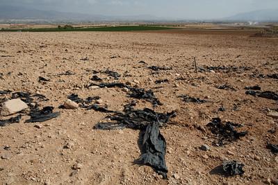 Campos de cultivo contaminados por plásticos
