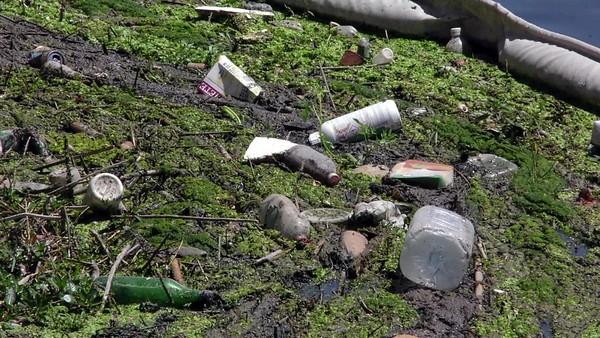 Plásticos en la desembocadura del río Carraixet