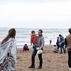Recogida de plásticos en la playa de Getxo con Jon Kortajarena