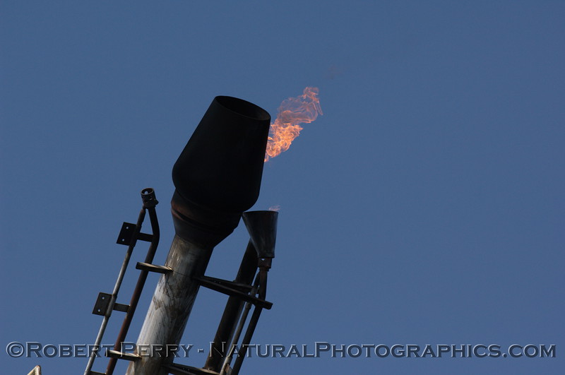 gas burn off flame Platform Holly 2008 04-20 Santa Barbara -- 1081