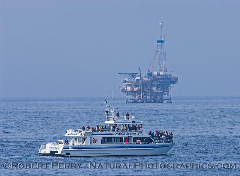 vessel Condor Express w Platform Holly 2007 04-02 Coal Oil Pt--001