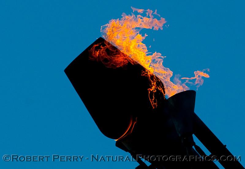 Platform Holly gas burn off flame 2010 06-26 SB Channel - 001