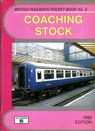 "1999 Coaching Stock, 23rd edition, by Peter Fox, published February 1999, 112pp £2.70, ISBN 1-902336-04-6. Cover photo of Mk.2 TSO 5364 ""Andrea""."