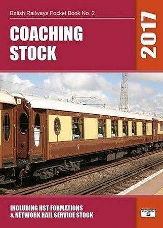 2017 Coaching Stock, 41st edition, by Robert Pritchard, published October 2016, 96pp £5.25, ISBN 1-909431-31-1.