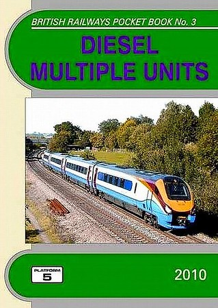 2010 Diesel Multiple Units, 23rd edition, by Robert Pritchard & Peter Fox, published December 2009, 80pp £4.35, ISBN 1-902336-75-6. Cover photo of an East Midland Class 222 'Meridian' DEMU.