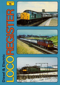 1984 Diesel & Electric Loco Register, 1st edition, by Alan Sugden, published 1984, 128pp £2.95, ISBN 0-906579-40-6. The three photos on the cover show 40012, D1054, and an EMI electric.