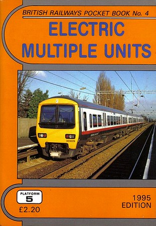 1995 Electric Multiple Units, 8th edition, by Peter Fox, published December 1994, 92pp £2.20, ISBN 1-872524-71-0. Cover photo of 323 229.