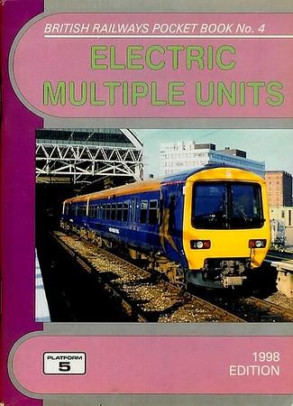 1998 Electric Multiple Units, 11th edition, by Peter Fox, published December 1997, 96pp £2.60, ISBN 1-902336-99-0. Cover photo of 323 233 at Manchester Piccadilly.