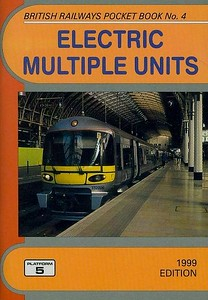 1999 Electric Multiple Units, 12th edition, by Peter Fox, published December 1998, 96pp £2.70, ISBN 1-902336-06-2. Cover photo of Heathrow Express unit 332 006.