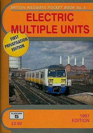 1997 Electric Multiple Units, 10th edition, by Peter Fox, published December 1996, 92pp £2.50, ISBN 9-781872-94-X. First privatisation edition. Cover photo of Connex SE 456 024.