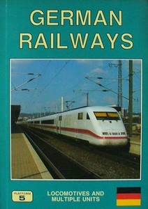 1993 German Railways Locomotives and Multiple Units, 3rd edition, by Brian Garvin & Peter Fox, published June 1993, 192pp £12.50, ISBN 1-872524-50-8. Cover photo of DB ICE unit 401-563.