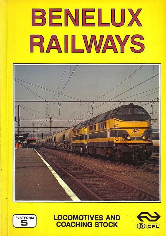 1994 Benelux Railways Locomotives and Coaching Stock, 3rd edition, by David Haydock, Peter Fox & Brian Garvin, published August 1994, 128pp £10.50, ISBN 1-872524-65-6. Cover photo of SNCB 5147+5149.