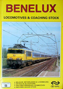 "1989 Benelux Locomotives & Coaching Stock, 2nd edition, by Brian Garvin & Peter Fox, published June 1989, 112pp £5.95, ISBN 0-906579-96-1. Cover photo of NS 1619 ""Maastricht""."