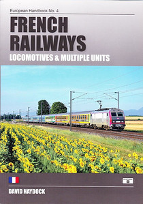 2011 French Railways Locomotives & Multiple Units, 5th edition, by David Haydock, published 2011, 224pp £19.95, ISBN 1-902336-90-9. Cover photo of SNCF 'Sybic' BB 26046 in the new 'Carmillon' livery.
