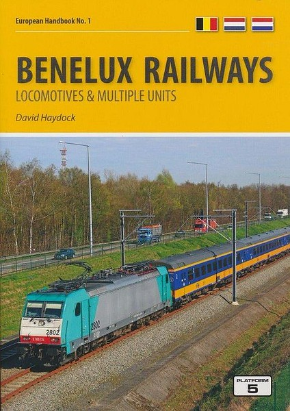 2017 Benelux Railways Locomotives & Multiple Units, 7th edition, by David Haydock, published November 2017, 176pp £22.95, ISBN: 1-909431-39-7. Cover photo of SNCB electric 2802 hauling a passenger service consisting of NS stock.