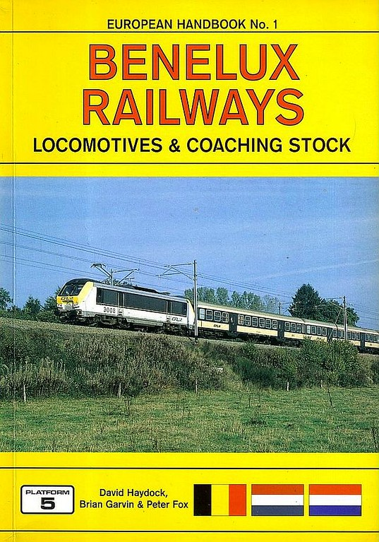 2000 Benelux Railways Locomotives & Coaching Stock, 4th edition, by David Haydock, Brian Garvin & Peter Fox, published August 2000, 176pp £14.95, ISBN 1-902336-08-9. Cover photo of SNCB 3009.