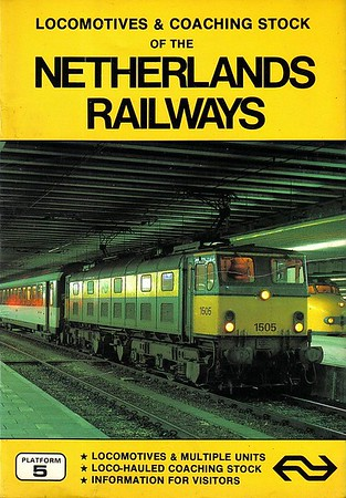 1984 Locomotives & Multiple Units of the netherlands Railways, 1st edition, by Gordon Lacy & Peter Fox, published 1984, 48pp £2.50, ISBN 0-906579-38-4. Cover photo of ex-BR EM1 electric 1505. The only Netherlands Railways edition, as details appeared in the Benelux editions henceforth.