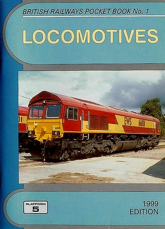 1999 Locomotives, 41st edition, by Neil Webster, published December 1998, 96pp £2.70, ISBN 1-902336-03-8. Cover photo of EWS 66001. As from this edition, only one was published each year instead of two.