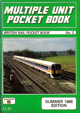 1988 (Summer) Multiple Unit Pocket Book, 13th edition, by Peter Fox & Steven Knight, published June 1988, 112p £1.25, ISBN 0-906579-85-6. Cover photo of Class 442 'Wessex' unit 2401.