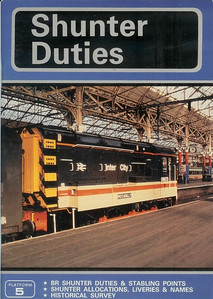 1987 Shunter Duties, 13th edition, by John Castle & John Wood, published 1987, 64pp £2.75, ISBN 0-906579-69-4. A5 format. Cover photo of 08673.