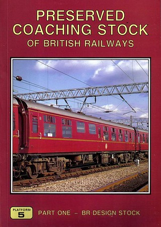 1994 Preserved Coaching Stock of British Railways, Part One - BR Design Stock, 1st edition, by Peter Hall & Peter Fox, published 1994, 104pp £7.95, ISBN 1-872524-63-X. Cover photo of Mk.1 Open First 124 aka 3110 at Carnforth.