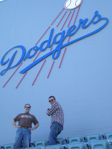 Bud and Nick at Dodger Stadium.