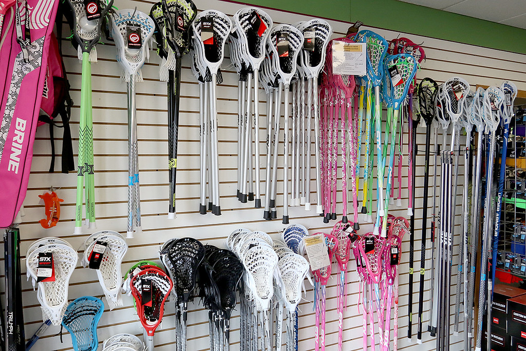 . Play It Again Sports in Leominster has a new Owner/Manager Sandy Pellecchia. Some of the lacrosse sticks they have for sale. SENTINEL & ENTERPRISE/JOHN LOVE