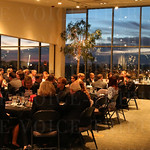 A beautiful sunset added beauty and a wonderful setting for the dinner portion of the event.