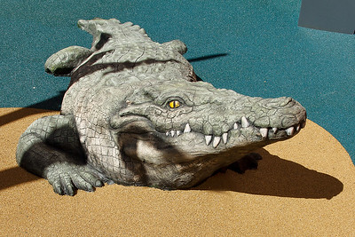 crocodile sculpture