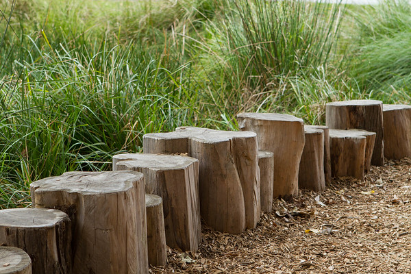 log rounds garden edging