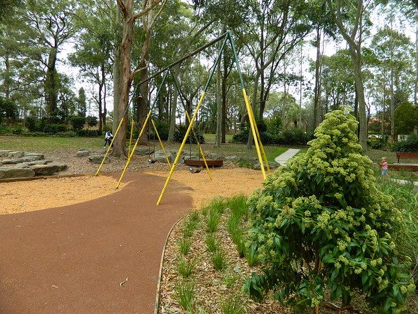 Legacy swing set with new rubber softfall